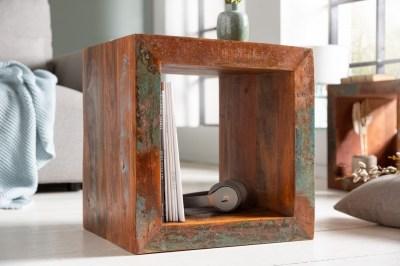 Dizajnový odkladací stolík Jacktar 45 cm recyklované drevo
