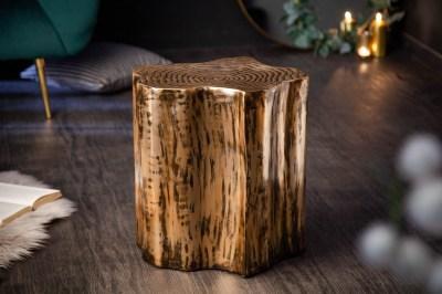 Dizajnový odkladací stolík Malia Organic zlatý