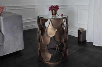 Dizajnový odkladací stolík Pablo 40 cm mosadz