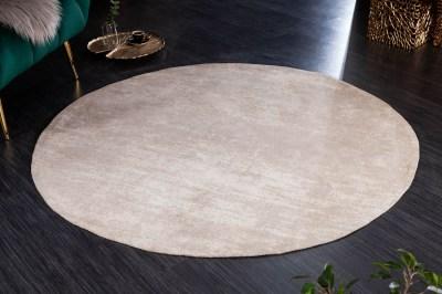 Dizajnový okrúhly koberec Rowan 150 cm béžový
