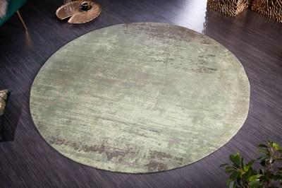 Dizajnový okrúhly koberec Rowan 150 cm zeleno-béžový