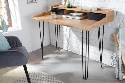 Dizajnový písací stôl Kiana II 110 cm vzor dub