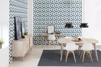 Dizajnový písací stôl Nahla 120 cm, dub biely