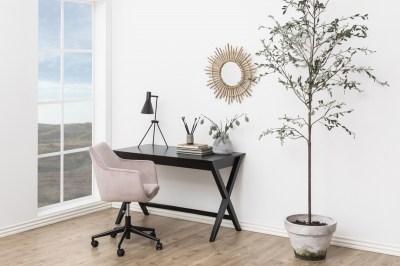 Dizajnový písací stôl Naroa 120 cm, čierny