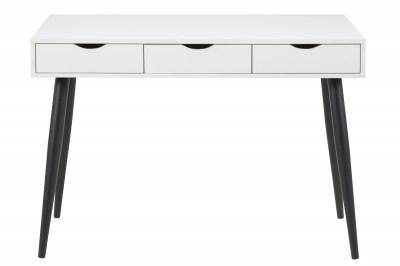 Dizajnový písací stôl Nature 110 cm, biely-čierny