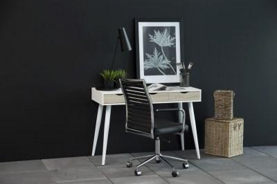 Dizajnový písací stôl Nature 110 cm, biely dub