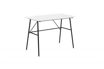 Dizajnový písací stôl Nava 100 cm, biely 2