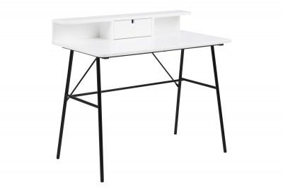 Dizajnový písací stôl Nava 100 cm, biely