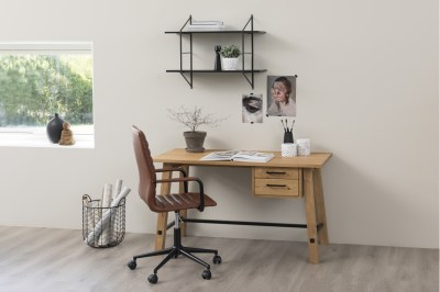 Dizajnový písací stôl Nayana 130 cm, brúsený divoký dub
