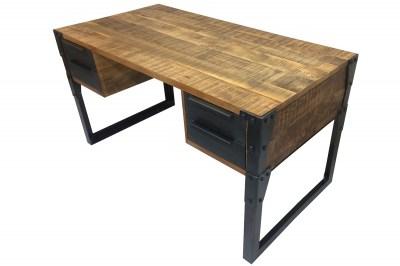 Dizajnový písací stôl Unity 135 cm mango