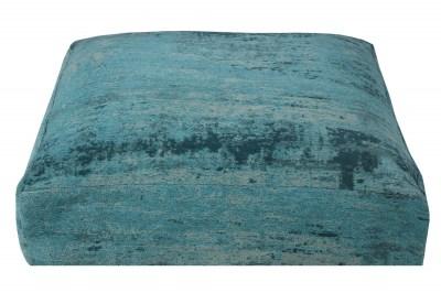 Dizajnový podlahový vankúš Rowan 70 cm tyrkysový