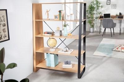 Dizajnový regál Kiana 154 cm vzor dub