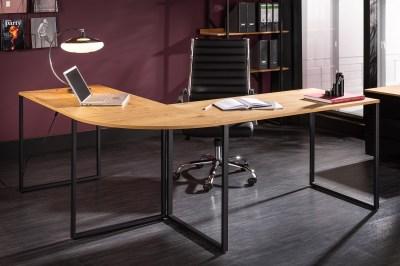 Dizajnový rohový písací stôl Boss 180 cm dub