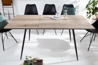 Dizajnový rozťahovací jedálenský stôl Nathalie 120-160 cm prírodný sivý