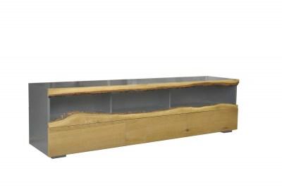 Dizajnový TV stolík Kira 180 cm dub - sivý