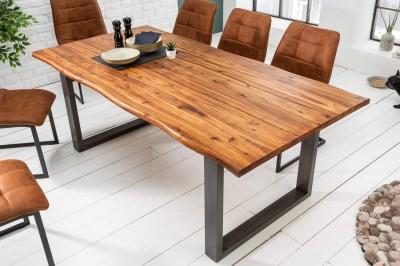 Dizajnový jedálenský stôl Evolution 140 cm akácia