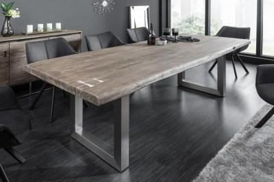 Dizajnový jedálenský stôl Massive Artwork 240 cm sivá akácia