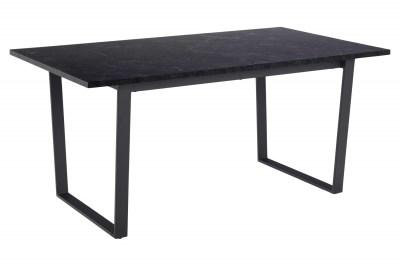 Dizajnový jedálenský stôl Nayo 160 cm čierny mramor