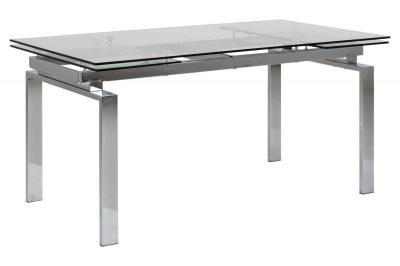 Dizajnový jedálenský stôl Neema 160-240 cm sklo - chróm