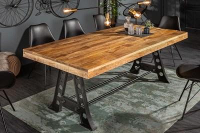 Dizajnový jedálenský stôl Stream 240 cm mango
