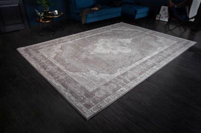 Dizajnový koberec Rex 350 x 240 cm svetlosivý