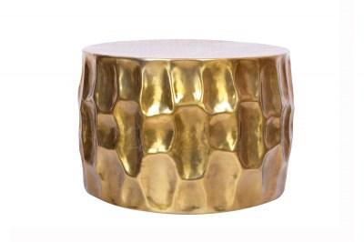 Dizajnový konferenčný stolík Alijah 55 cm zlatá farba