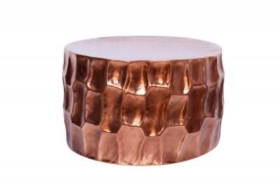 Dizajnový konferenčný stolík Alijah 70 cm medená farba