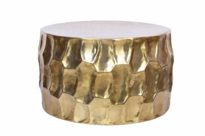 Dizajnový konferenčný stolík Alijah 70 cm zlatá farba