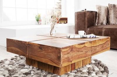 Dizajnový konferenčný stolík Dash 80 cm sheesham