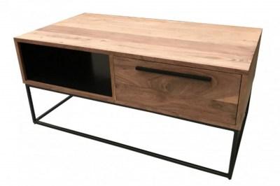Dizajnový konferenčný stolík Malakai 110 cm prírodný - akácia