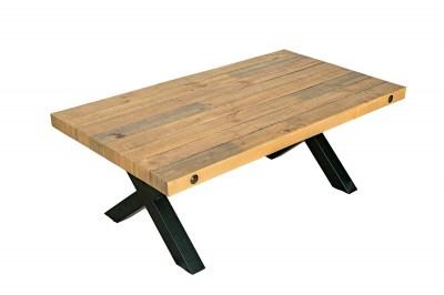 Dizajnový konferenčný stolík Thunder 120 cm prírodný - borovica