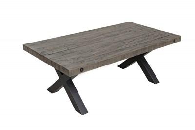 Dizajnový konferenčný stolík Thunder 120 cm sivý - borovica