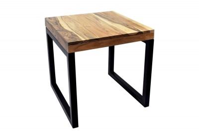 Dizajnový odkladací stolík Factor 45 cm prírodná akácia - čierny rám