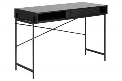 Dizajnový písací stôl Naarah 110 cm čierny