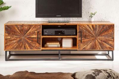 Dizajnový TV stolík Catalina 145 cm mango