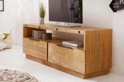 Dizajnový TV stolík Harlow 150 cm prírodný - borovica