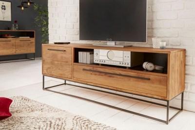Dizajnový TV stolík Malakai 165 cm prírodný - akácia