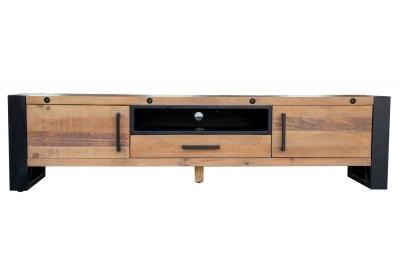 Dizajnový TV stolík Thunder 200 cm borovica