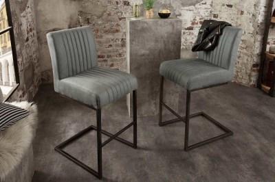 Dizajnová barová stolička Boss II antik sivá