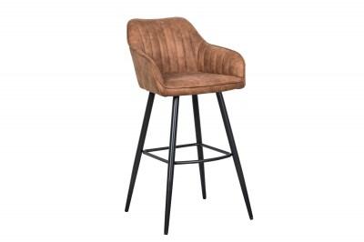 Dizajnová barová stolička Esmeralda vintage hnedá