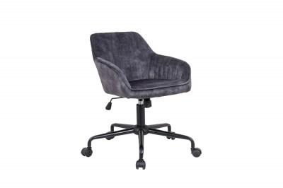 Dizajnová kancelárska stolička Esmeralda tmavosivý zamat