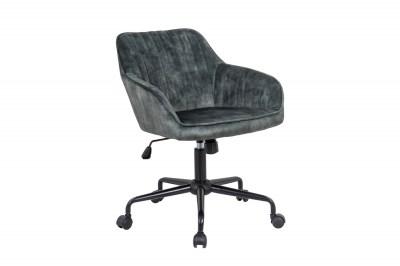 Dizajnová kancelárska stolička Esmeralda zelený zamat