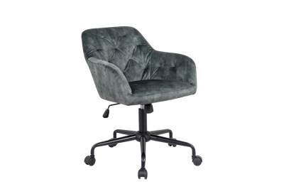 Dizajnová kancelárska stolička Kiara zelený zamat