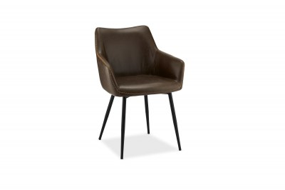 Elegantná stolička Abacus, tmavohnedá