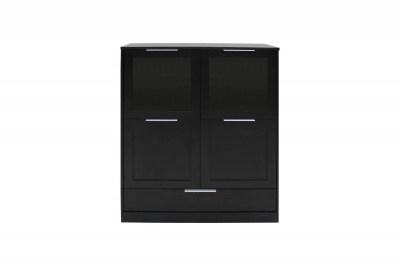 Dizajnová komoda Franco / 4 dverová čierna