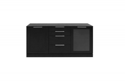 Dizajnová komoda Franco / 2 dverová čierna
