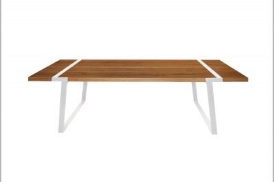 Jedálenský stôl Annie 240 cm / biela-prírodná