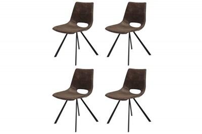 Dizajnová stolička Izabella / hnedá