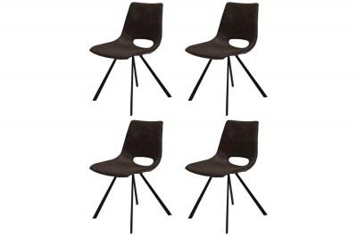 Dizajnová stolička Izabella / tmavo hnedá-čierna