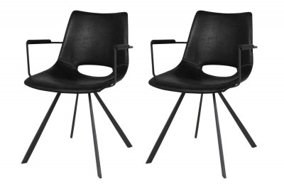 Dizajnová stolička Izabella s opierkami / čierna